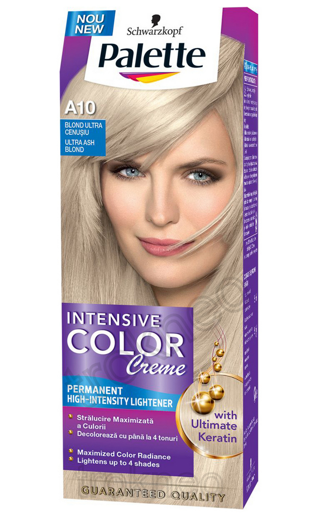Schwarzkopf PALETTE A10 Ash Blonde Intensive Color Creme Permanent Hair Color