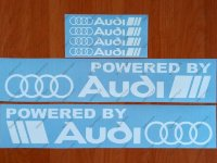 Powered by Audi Racing Sport S Line Decal Sticker Emblem Logo