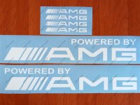Powered by AMG Mercedes Benz Sport Racing Decal sticker emblem logo