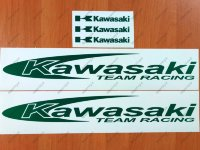 "Kawasaki Reflective Team Racing 16"" Sticker Decal Motorcycle Tank Wheel Bike"