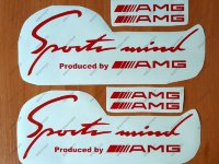 Sports Mind Produced by AMG Mercedes Benz clk63 Decal Sticker Emblem Logo