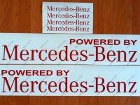 Powered by Mercedes Benz Sport Racing Decal Sticker Emblem Logo