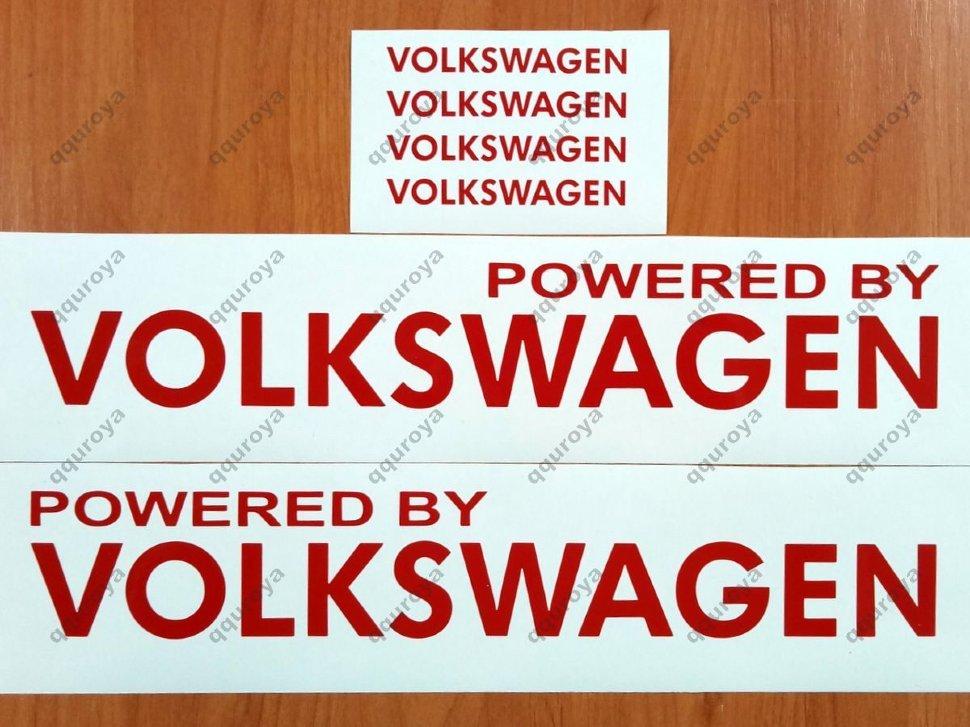 146 Powered by VOLKSWAGEN Sport Racing Decal Sticker Emblem Logo