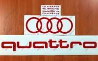 QUATTRO RINGS AUDI A4 A6 A8 RS3 RS4 Q5 Line Racing Decal Sticker Emblem Logo