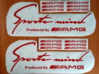 Sports Mind Produced by AMG Mercedes Benz E63 Decal Sticker Emblem Logo