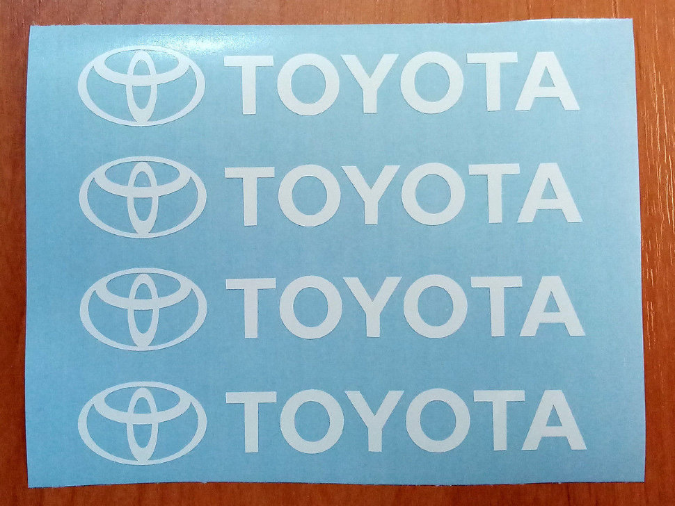 Toyota Door Handle Decal Sticker Logo Trd Camry Celica Frs