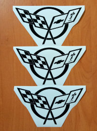 CORVETTE C5 C6 C7 Stickers Vinyl Decals Graphics Die Cut Emblem Logo