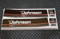 JOHNSON 1989-1990 140 HP Vinyl Decals Stickers HorsePower V4 VRO Motor Set