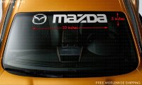 MAZDA Logo Windshield Banner Vinyl Logo Car Decal Sticker