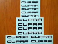 CUPRA Premium Brake Caliper Decals Stickers Ibiza Leon FR R Altea ST