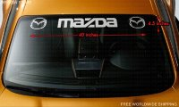 MAZDA Leter and Logo Style 2 Windshield Vinyl Decal Sticker