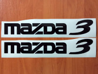 MAZDA 3 Car Auto Die Cut Decals Stickers Vinyl Self Adhesive