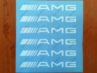 AMG Mercedes Benz C55 CLK E55 CLS63 Door Handle Decal Sticker Emblem Logo
