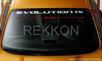 Stripe Decal For Mitsubishi Evolution 9 Evo WRC Windshield Banner Vinyl  Decal Sticker