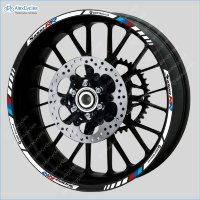 BMW S1000RR Motorcycle Wheel Rim Decals Stickers Stripes HP4 Motorrad Motorsport
