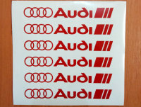 AUDI Kit Set Decals Stickers Wheels Car Auto Die Cut Vinyl Self Adhesive