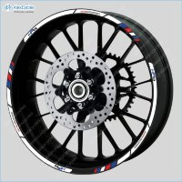 BMW HP4 Motorcycle Racing Equipment Wheel Rim Decals Stickers Stripes Motorsport Motorrad