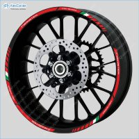 Ducati  Motorcycle Wheel Rim Laminated Stripes Decals Stickers