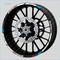 BMW S1000RR Motorsport Motorcycle Wheel Rim Decals Stickers Stripes Motorrad