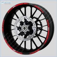 BMW S1000XR Motorrad Motorsport Motorcycle Wheel Rim Decals Stickers Stripes