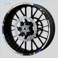 BMW K1200R Motorrad Motorsport Motorcycle Wheel Rim Decals Stickers Stripes