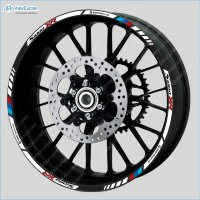 BMW S1000XR Motorrad Motorsport Motorcycle Wheel Rim Decals Stripes Stickers