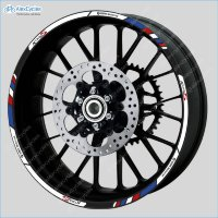 BMW K1300S Motorrad Motorsport Motorcycle Wheel Rim Decals Stickers Stripes