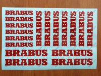 BRABUS HI TEMP PREMIUM BRAKE CALIPER DECALS STICKERS CAST VINYL MERCEDES BENZ
