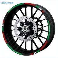 Ducati Corse Hypermotard Motorcycle Wheel Rim Laminated Decals Stickers Stripes