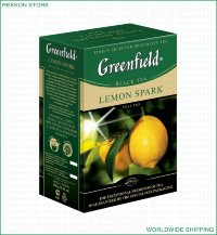 Greenfield Classic Collection Lemon Spark Black Flavoured Leaf Tea Box