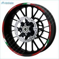 Ducati Corse Monster Motorcycle Wheel Rim Laminated Decals Stickers Stripes