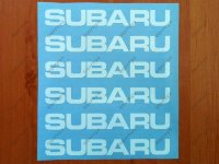 SUBARU Sport Racing Decal Sticker Emblem Vinyl Logo Wheels Rims