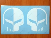 Corvette Skull Decal Sticker American chevrolet stingway z06 Jake C7R