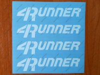 Runner Decal Sticker Truck Toyota TRD Lets Go Places 4wd