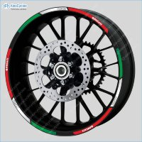 Ducati Corse Racing Motorcycle Wheel Rim Laminated Decals Stickers Stripes