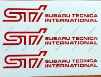Subaru Tecnica International Sticker Decal SUBARU Perforamnce Tuning STI