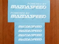 Powered by MAZDASPEED Mazda RACING RX8 Decal Sticker Emblem Logo