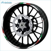 Ducati Corse Multistrada Motorcycle Wheel Rim Laminated Decals Stickers Stripes