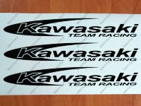 "Kawasaki Team Racing 12"" Sticker Decal Motorcycle Window Tank Wheel Bike"