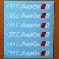 Audi Decal Sticker Wheels Rims Logo Emblem A3 A4 A5 A6 A7 A8 S4 S5 S6