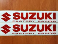 SUZUKI Factory Racing Bellypan Superior Cast Motorbike Decals Stickers GSXR
