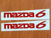 MAZDA 6 Mazdaspeed Wagon Racing Decal Sticker Emblem Logo