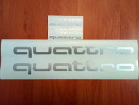 quattro AUDI SRT Car Racing Sport Die Cut Decals Sticker Vinyl Emblem Logo