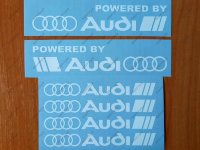 Powered by Audi Racing Sport S Line Window Decal Sticker Emblem Logo