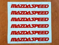 MAZDASPEED Decal Sticker Racing Wheels Rims MAZDA Sport Emblem Logo