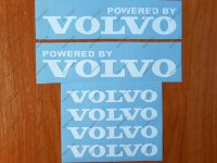 Powered by VOLVO Sport Racing Decal Sticker Window Emblem Logo