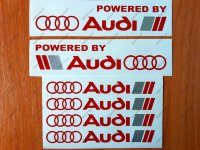 Powered by Audi Racing Sport S Line Window Decal Sticker Logo Emblem