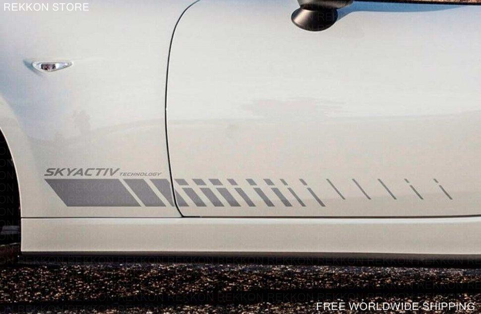 MX5 Miata Car Body Graphic Decals Mazda door panel side stripe graphics decal Skyactive & MX5 Miata Car Body Graphic Decals Mazda door panel side stripe ... pezcame.com