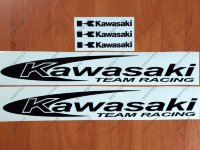 "Kawasaki Team Racing 16"" Sticker Decal Motorcycle Window Tank Wheel Bike"