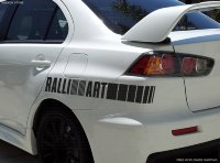 Mitsubishi Evo Lancer Vinyl Decal Sticker Ralli Art Racing Sports 4x4 Car